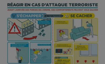 Réagir en cas d'attaque terroriste… l'infographie bâclée du gouvernement