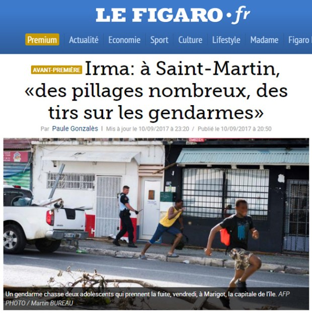 Pillages à Saint Martin (source : Le Figaro)
