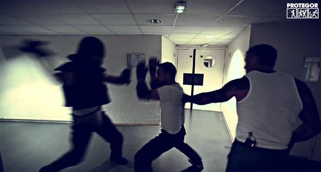 "Benjamin Giraudon termine son scénario training ""urban combatives"" (2016, stage Lee Morrison)"