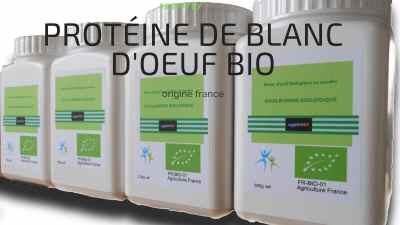 Protéine de blanc d'œuf bio