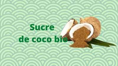 Le sucre de cocotier bio