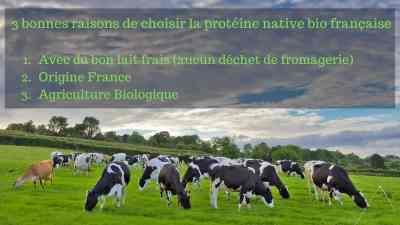 Read more about the article 3 bonnes raisons de choisir la protéine native bio française