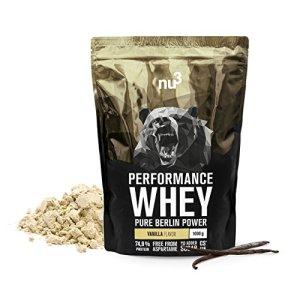 nu3 – Whey Protéines Performance | 1kg | Poudre Vanille | Protéines destinées à la prise de masse musculaire | Excellente solubilité et délicieuse saveur vanille | Haute teneur en protéines