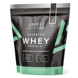 Marque Amazon – Amfit Nutrition Advanced Whey protéine de lactosérum saveur menthe et chocolat, 32 portions, 990 g