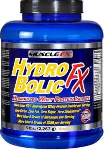 Hydro Bolic Fx Hydrolyzed Whey Protein Isolate Vanilla 5 lbs by MUSCLE FX