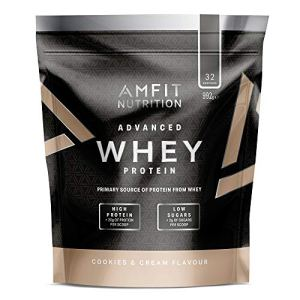 Marque Amazon – Amfit Nutrition Advanced Whey protéine de lactosérum saveur Cookies & Cream, 32 portions, 990 g