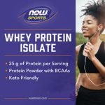Whey protein isolate nature – 4.536 kg – Now foods