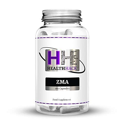 Health Hack – Lot de 180capsules de supplément ZMA