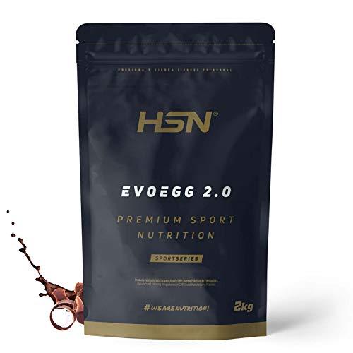 Protéine d'Oeuf de HSNsports | Evoegg 2.0 | 100% Albumine d'Oeuf en Poudre | Egg Protein | Idéal pour les personnes intolérantes au lactose et ovo-lactovégétariens |Sans Gluten | Saveur Chocolat, 2kg