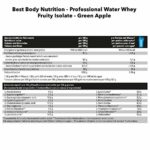 Best Body Nutrition Professional Water Whey Fruity Isolat, 1000 g Beutel (Green Apple)