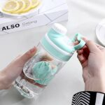 HUANGDANSEN Protein Shaker Woman Sport Water Bottle Gym Fitness Shaker Bottle Bpa Free Plastic Whey Protein Bottles for Outdoor Camping Travel