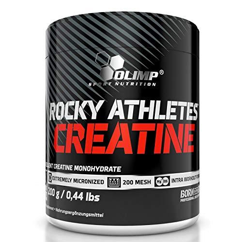 ROCKY ATHLETES CREATINE MONOHYDRATE 200g – Complément Alimentaire Anabolisant au Magnésium et Vitamine B6