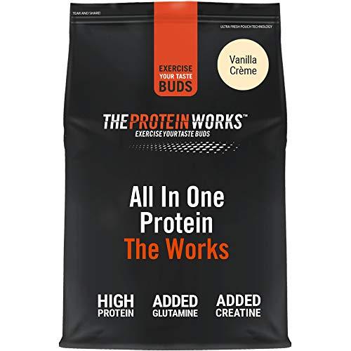THE PROTEIN WORKS Tout-En-Un The Works   Shake Protéiné Complet   Avec Glutamine et Créatine   Créme Vanilée   4kg