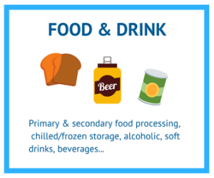 Projects leads in the food and drink industry