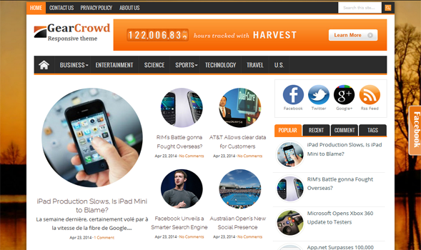 Gear-Crowd-Responsive-Blogger-Template