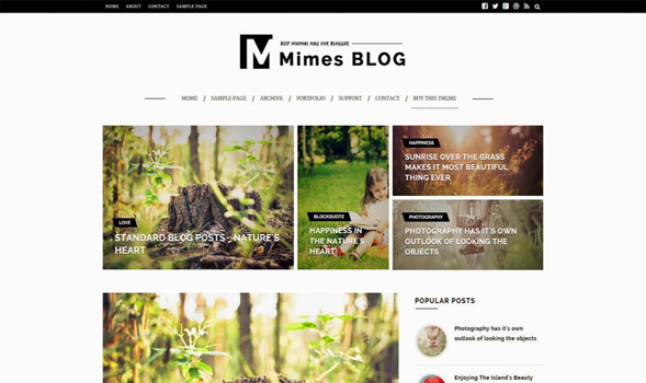 Mimes-Photography-Blogger-Template