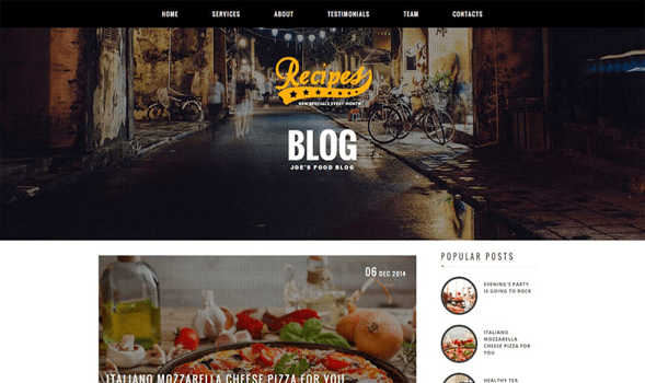 Recipes-Blogger-Template