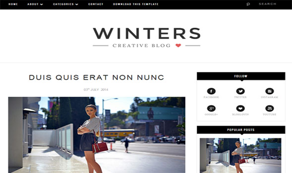 Winters-Blogger-Template