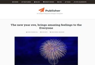 Publisher Blogger Template