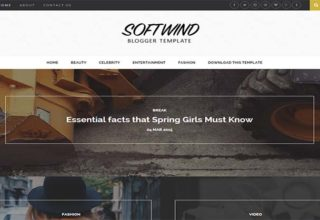 Softwind Blogger Template