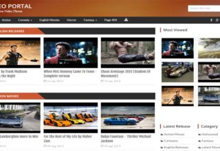 Video Portal Blogger Template