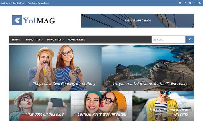 Yo Mag Blogger Template