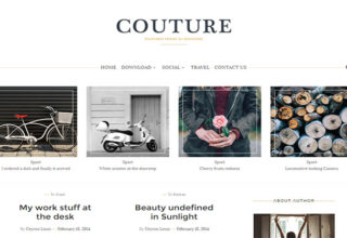 Couture Blogger Template
