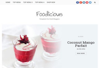 Foodlicious Blogger Template