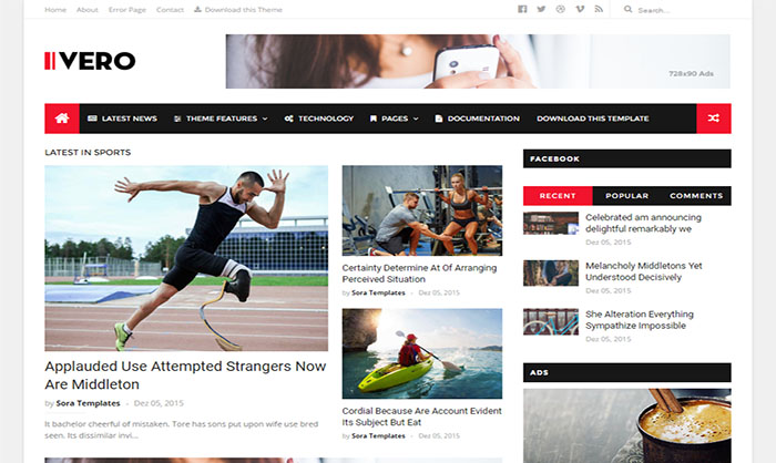 IVERO Blogger Template