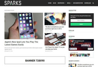Sparks Blogger Template