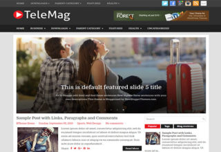 TeleMag Blogger Template