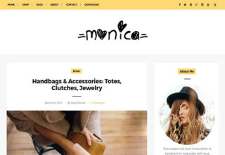 Monica Blogger Template
