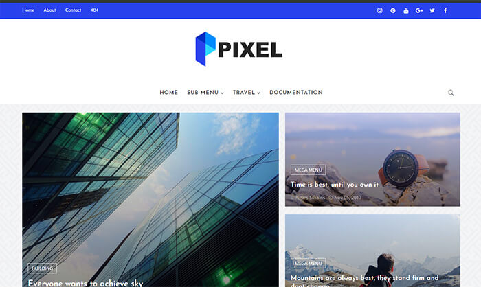 Pixel Blogger Template