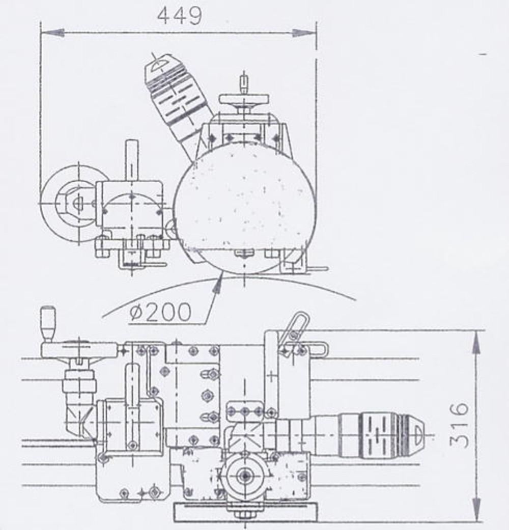 TUBE CUTTING MACHINE PRO 8-36 MODEL