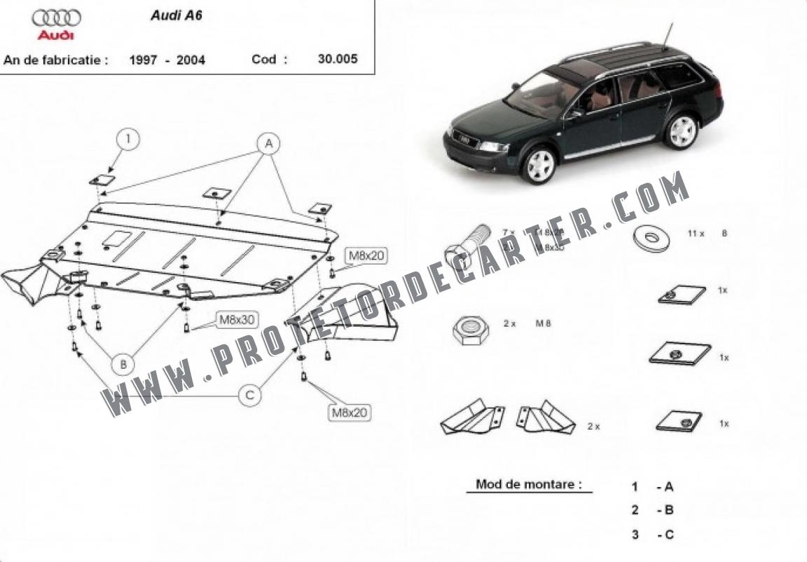 Protetor de Carter de aço Audi A6