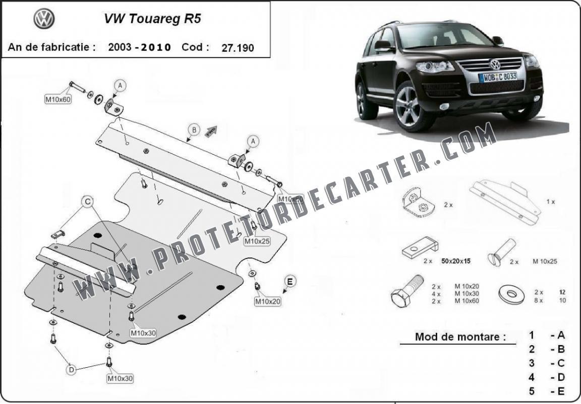 Protetor de Carter de aço Volkswagen Touareg 7L