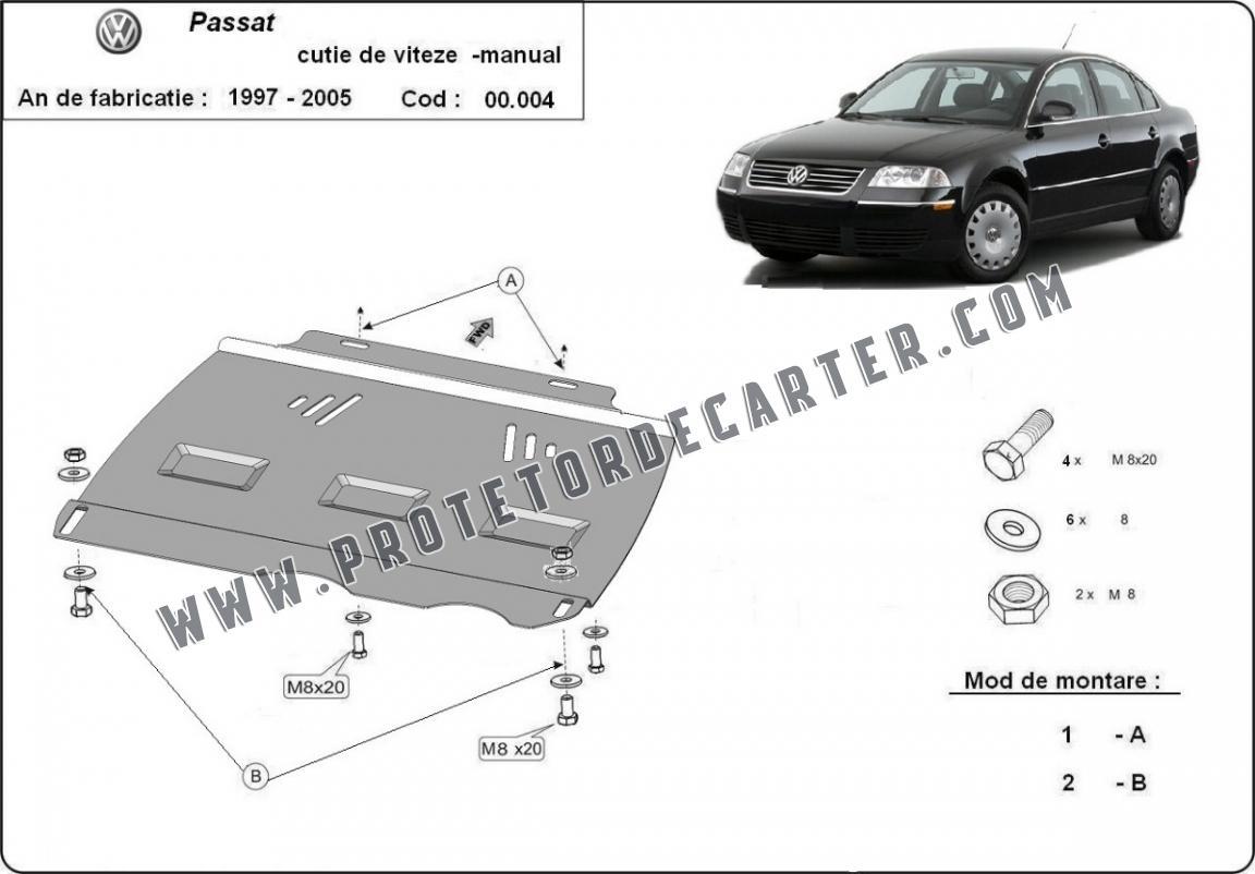 Protetor de caixa de velocidades manual de aço VW Passat