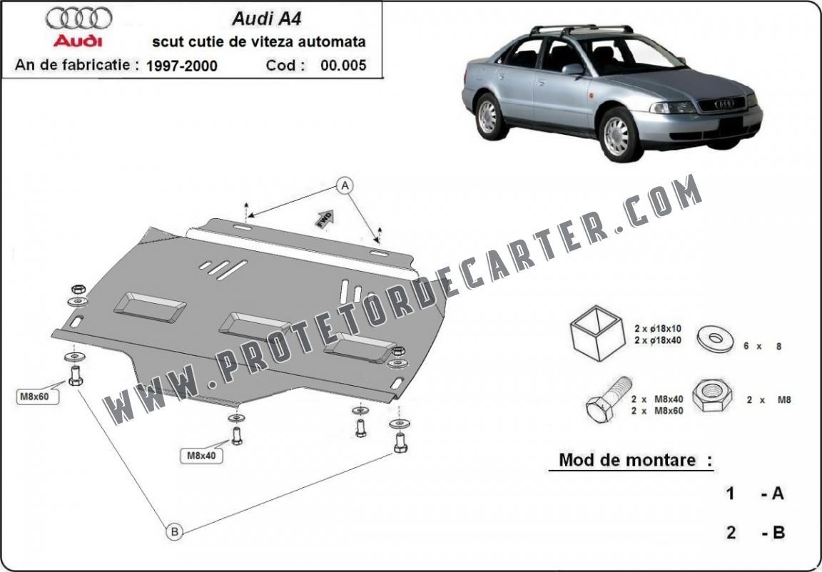 Protetor de caixa de velocidades automática de aço Audi A4 B5