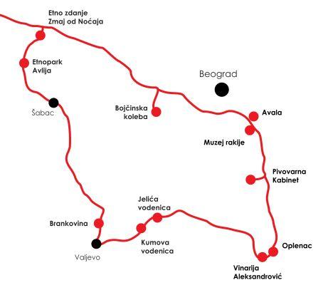 Zemljevid poti Srbija