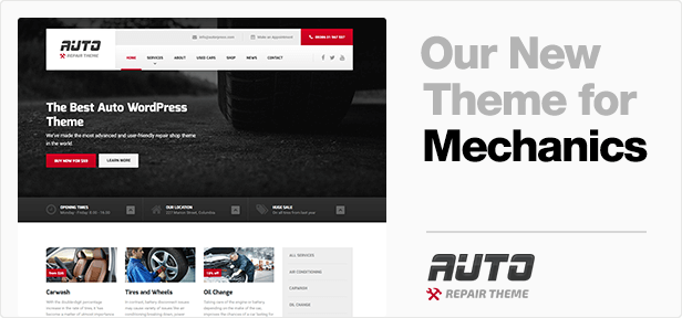 CarPress - WordPress Theme For Mechanic Workshops - 1