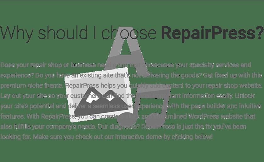 Reasons to choose RepairPress