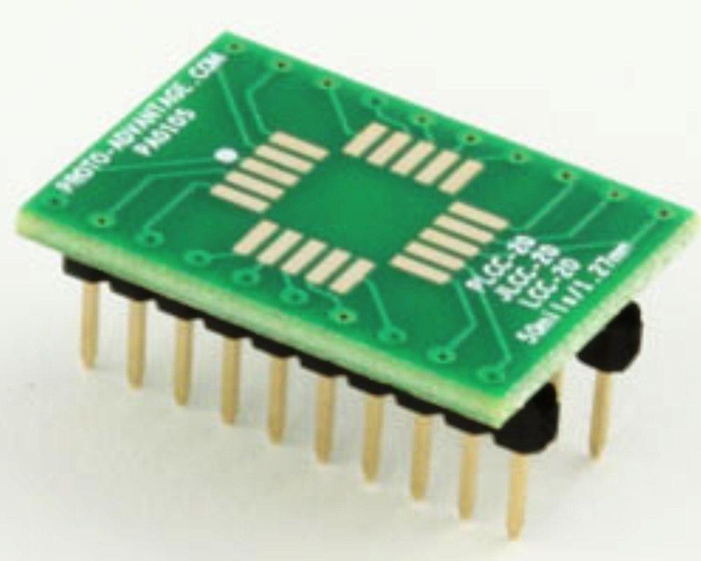 Proto Advantage  LCC20 to DIP20 SMT Adapter 50 mils