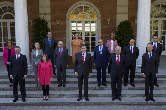 Fotografía oficial del último Consejo de  Ministros del Gobierno de España.