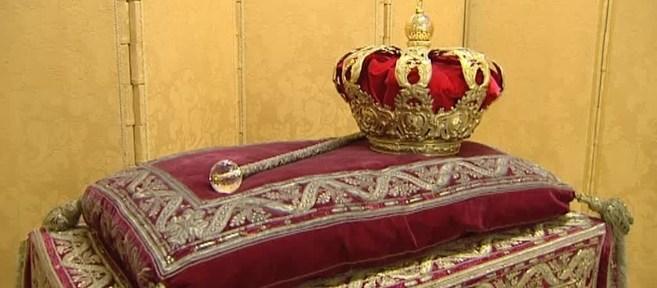 Cetro y corona españolas.