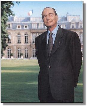 El presidente Jacques Chirac