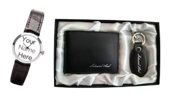 Customized Wallet,key-chain & Watch Set