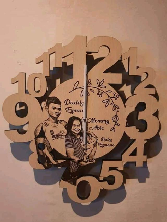 Customized Wooden Wall Clock