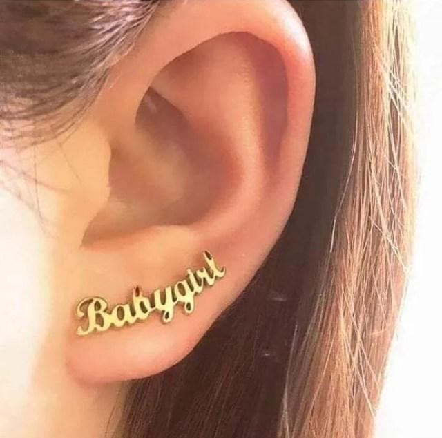 Customized Single Name Earing