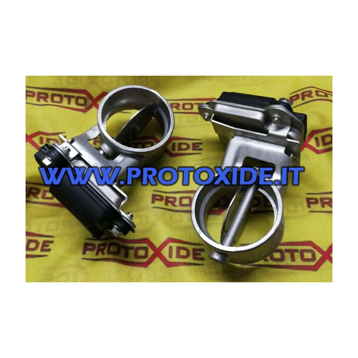 double butterfly valve for opening the electronic muffler exhaust with control unit and remote control