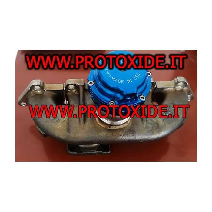 ni resist exhaust manifolds for fiat alfa lancia 500 abarth with external wastegate connection